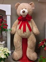 Giant 10 Foot Teddy Bear with Red Velvet Bow