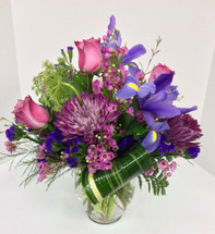 Lavender Blue Fresh Vase
