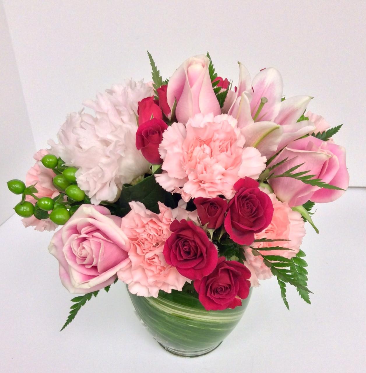 Bubble Gum And Cotton Candy Vase Centerville Florists