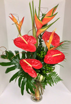Exotic Fantasy Tropical Vase Arrangement