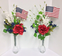 Patriotic Silk Memorial Side Pieces