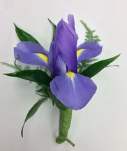 Fresh Iris Boutonniere