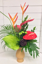 Vivid Tropical Mixed Vase