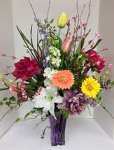 Vivid Silk Garden Vase