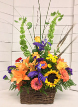 Bells and Lilies Autumn Wildflower Basket