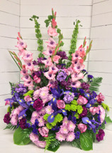 Amethyst, Lavender, and Green Stunning Celebration of Life Arrangement