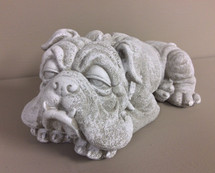 """Sleepy Bulldog"" Statue"