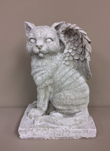 """Winged Angel Cat"" Statue"