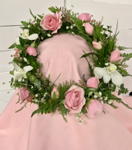 """Orchids and Sweethearts"" Head-wreath"