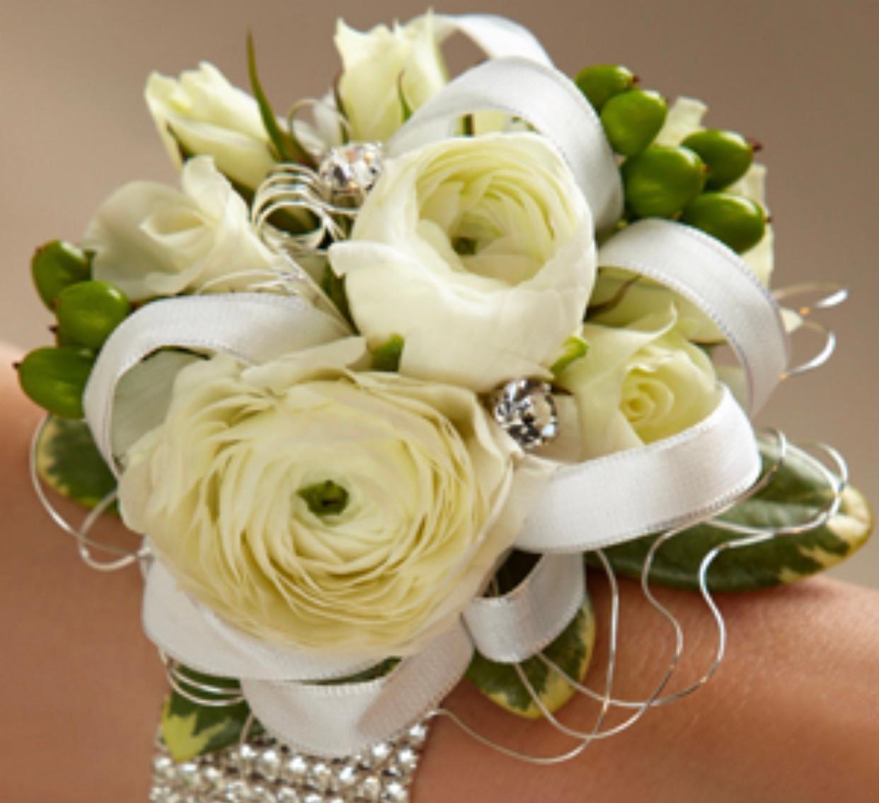 White Ranunculus Corsage Centerville Florists