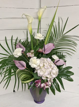 Lovely Lavender Tropical Arrangement