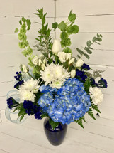 Blue Blooms Baby Boy Bouquet