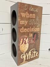 "16""tall wooden wine box (holds 3 bottles)"