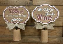 "10"" by 7"" jumbo cork wine sign"