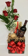 Esther Price Caramel Apple Red Rose & Menage a Trois Cabernet Box