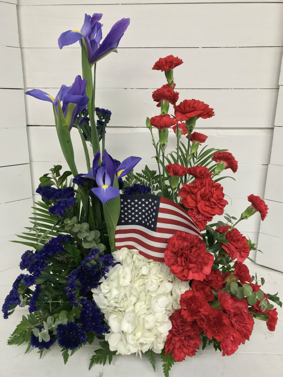 Red White And Blue Patriotic Tribute Centerville Florists