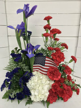Red, White, and Blue Patriotic Tribute