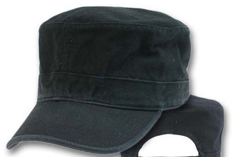 Black military cap fatigue hat cadet hat adjustable
