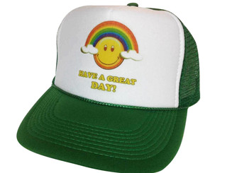 As shown in photo then color of the hat . ex. Green/white front