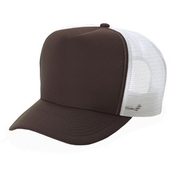 Brown Front white mesh Trucker Hat Mesh Hat Snapback Hat