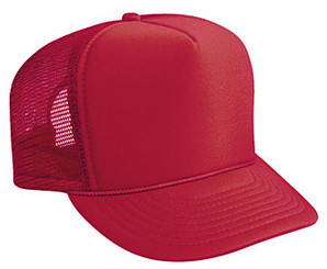 Red plain blank Trucker Hat Mesh Hat Snapback Hat