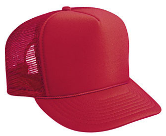 Solid Red Mesh Trucker Hat Mesh Hat Blank Plain Trucker Hats