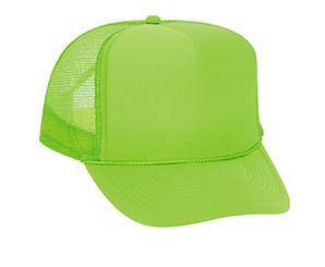 Neon Green plain blank Trucker Hat Mesh Hat Snapback Hat