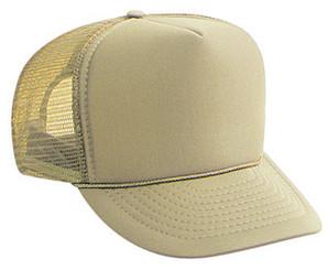 khaki plain blank Trucker Hat Mesh Hat Snapback Hat