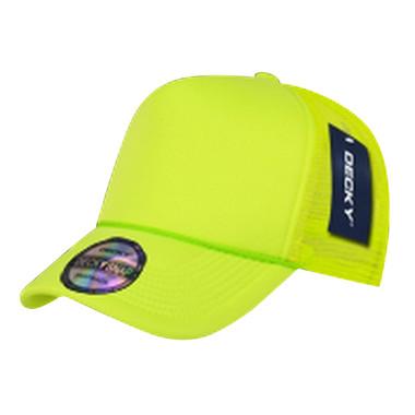 neon yellow blank trucker hat mesh hat blank plain trucker hats