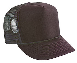 Brown plain blank Trucker Hat Mesh Hat Snapback Hat