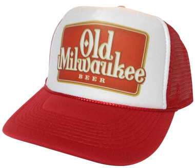 As shown in photo then color of the hat Red/white front