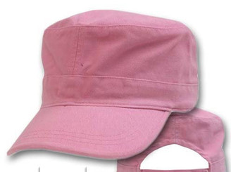 Pink cotton Military cap fatigue hat cadet hat