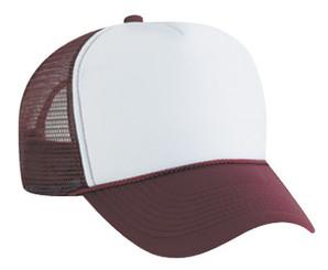 White front maroon back plain blank Trucker Hat Mesh Hat Snapback Hat