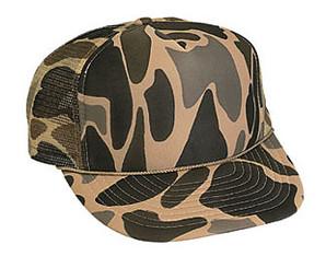 Tan Camouflage solid Trucker Hat Mesh Hat Snapback Hat