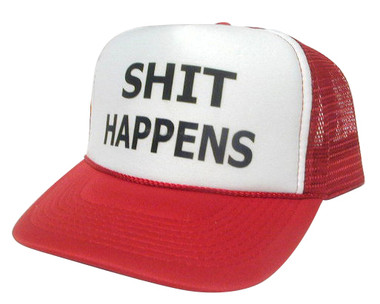 SHIT HAPPENS Trucker hat mesh hat - Funny Trucker Hats   more 7e23f95048b3