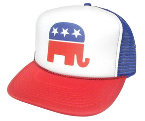 As shown in photo then color of the hat . ex. Red/Blue/white front