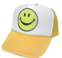 Smiley face Trucker hat mesh hat snapback hat
