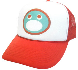 As shown in photo then color of the hat white/red