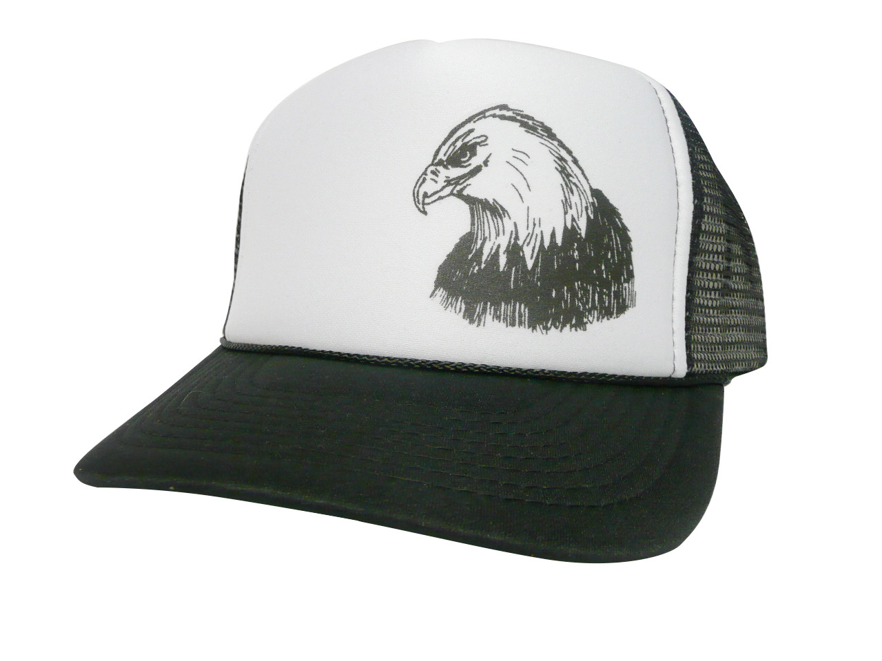 802832df59c ... Eagle head Trucker Hat Mesh Hat Snap back Hat. As shown in photo  Black white front