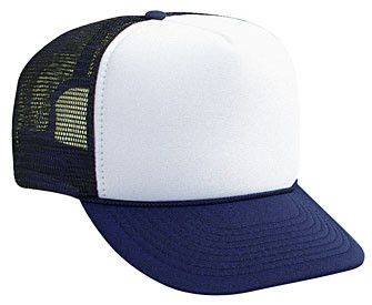 WHITE FRONT NAVY BACK Trucker hat mesh hat - Blank Plain Trucker Hats ffa4303f2aa