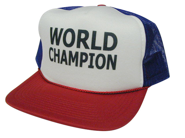 abfe2b62b86 ... WORLD CHAMPION Trucker Hat Mesh Hat Snapback Hat. As shown in photo  red/white/blue