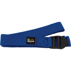 8 FOOT YOGA STRAP BLUE COTTON BLEND WITH PVC BUCKLE
