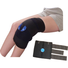 "Knee Compression Wrap Features Insulated plush wrap. Two (2) 6"" x 12"" Soft Ice® packs. SPECS  Size: (2) 6"" x 12"" Packs"