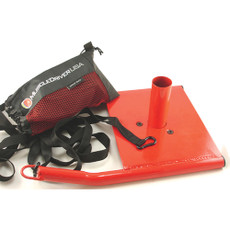 """Speed Sled Features  Comes with custom carrying bag for harness and nylon lead.  Nylon lead is 14' long, for a distance of 7'.  Size: 19 1/2"""" x 13 1/2"""" x 7 1/2"""". Weight: 13 lbs.  Color: red. SPECS  Color: Red"""
