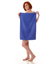 16x27 Gym Towel, Royal Blue, 100A Series, Cotton, 2.75lb