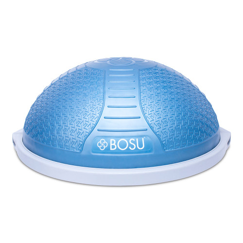 Features: New, improved commercial grade design and function Bladder weight of 8 lbs. and a dually over-molded platform for extra strength Smooth, non-skid, non-marking base Blue dome with logo detailing, light gray clamp and platform, and includes a foot pump 1-year commercial product performance guarantee