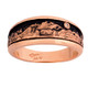 Pikes Peak Garden of the Gods Mountain band. 14k Rose gold with enameled sky and full cut diamond moon