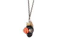 small rose handmade necklace (HN31)