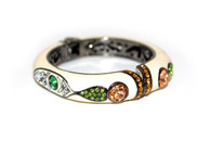 ENAMEL CRYSTAL BANGLE  (Ivory)