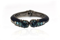 ENAMEL CRYSTAL BANGLE (Navy)